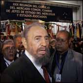 Líder cubano protagoniza desborde en Cumbre del Mercosur