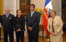 Jefa de Estado recibió al Presidente electo de Ecuador