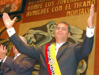 Discurso de posesión del presidente ecuato riano RAFAEL CORREA DELGADO