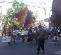 Argentina: mitin de bolivianos en apoyo a su mandatario
