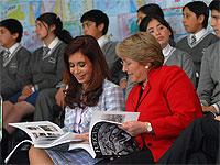 Michelle Bachelet y Cristina Fernández avanzaron en temas comerciales y defensa