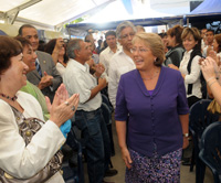 Mandataria se reunió con chilenos residentes en Cuba