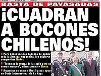 Polémica portada de diario peruano contra Bachelet