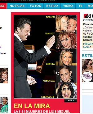 Las 11 mujeres de Luis Miguel