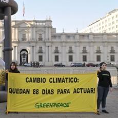 Greenpeace critica mutismo de Chile en negociaciones para cumbre del Cambio Climático