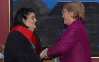 Bachelet expresó pesar por Mercedes Sosa