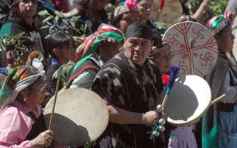 Multitudinaria y pacífica marcha por los derechos de los pueblos originarios