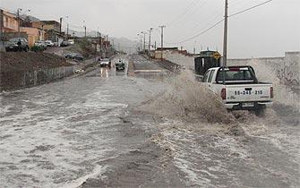 Inusual lluvia afectó borde costero de Antofagasta