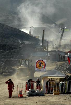Las imágenes de un día clave en la mina San José