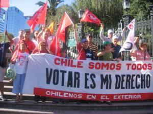 Madrid: Reunión de chilenos residentes en Europa por el derecho al voto sin condiciones