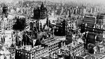 Ruinas de Dresde tras los bombardeos aliados.