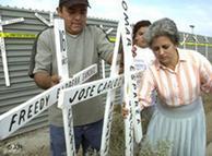 Muchos emigrantes latinoamericanos mueren en la peligrosa frontera estadounidense.