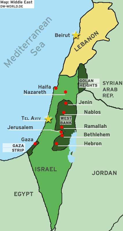 Mapa de la región en conflicto.