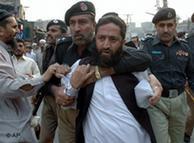 Detención de opositores en Paquistán.