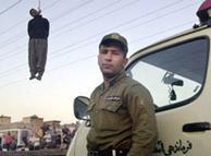 Ejecución pública en Irán.