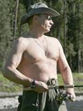 A Vladimir Putin le gusta pescar.