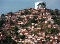 Tanque de agua en Caracas, Venezuela.
