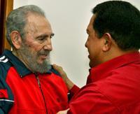 Fidel Castro y Hugo Chávez  Foto: JR