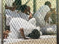 Prisioneros rezando en Guantánamo