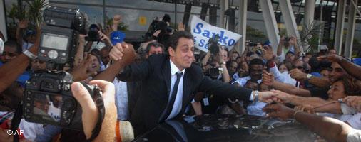 Sarkozy durante la campaña electoral.