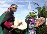 Mapuches en Chile.