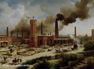 Imagen de la Revolución Industrial en Alemania.